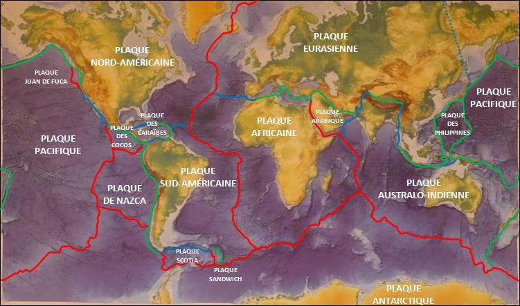 frontiere des plaques lithosphériques